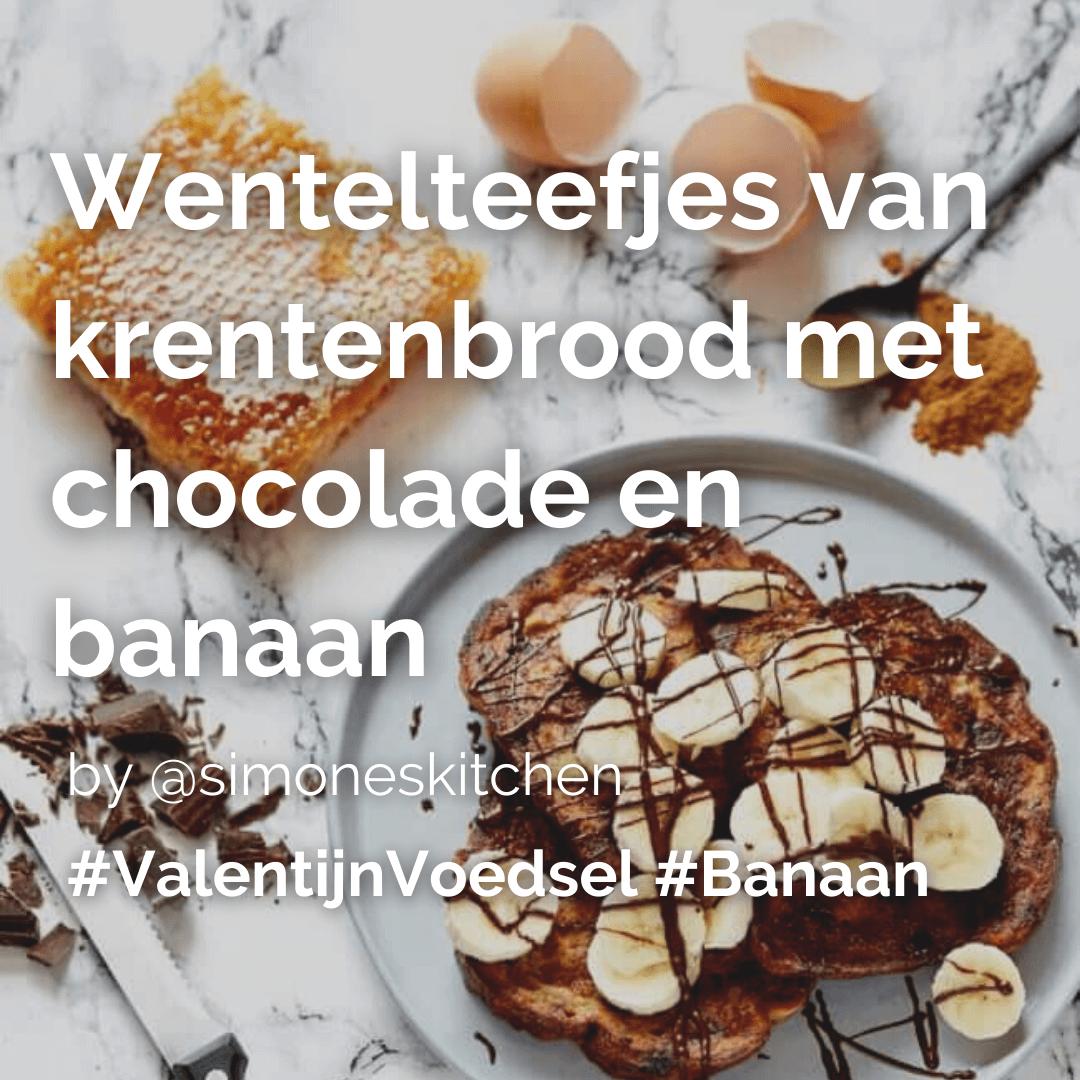 Je bekijkt nu Valentijn special: Wentelteefjes van krentenbrood met chocolade en banaan @simoneskitchen