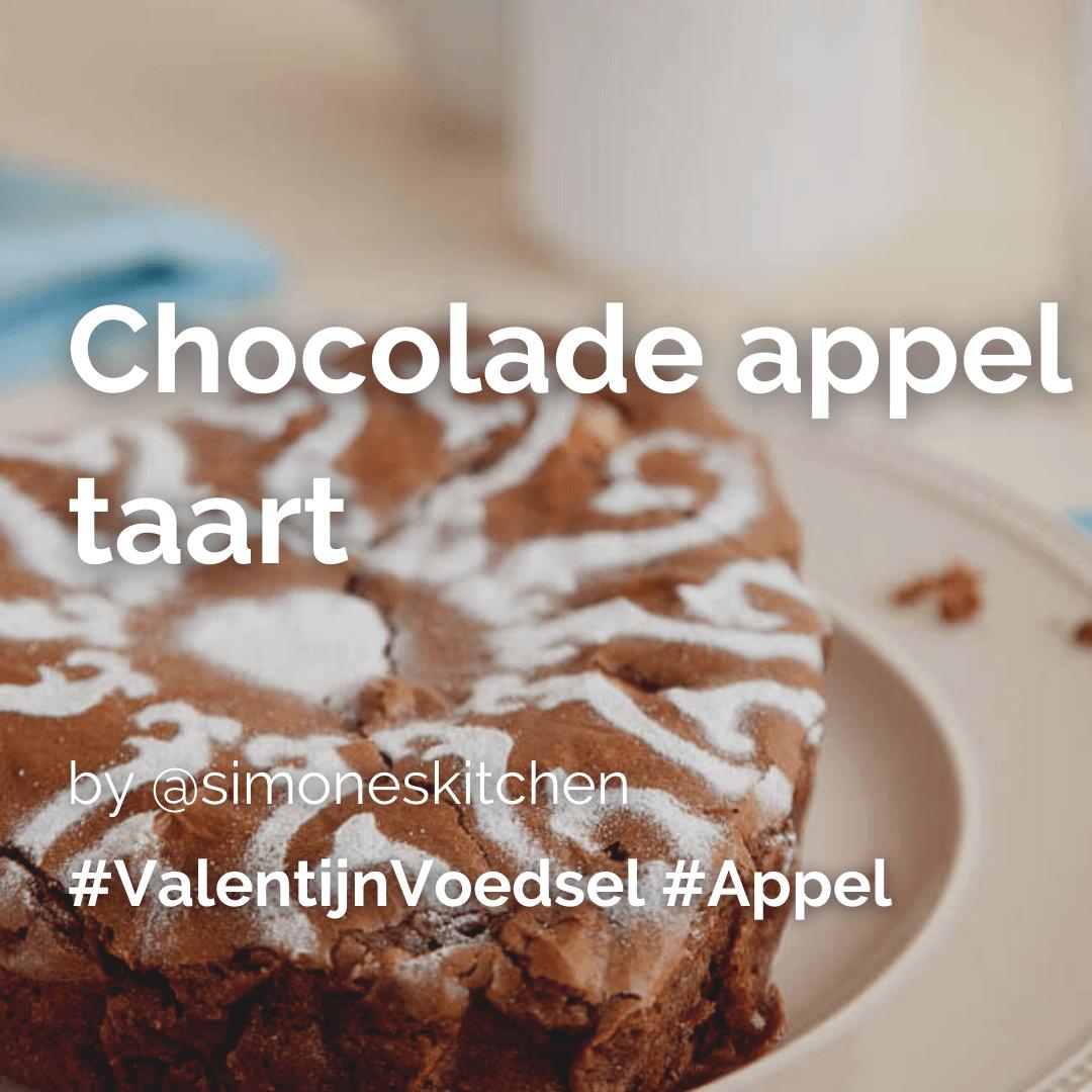 Je bekijkt nu Valentijn special: Chocolade appel taart @simoneskitchen