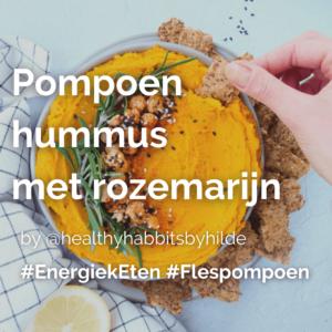 Lees meer over het artikel Pompoen hummus met rozemarijn  @healthyhabbitsbyhilde