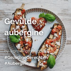 Gevulde aubergine @growingthroughdirt