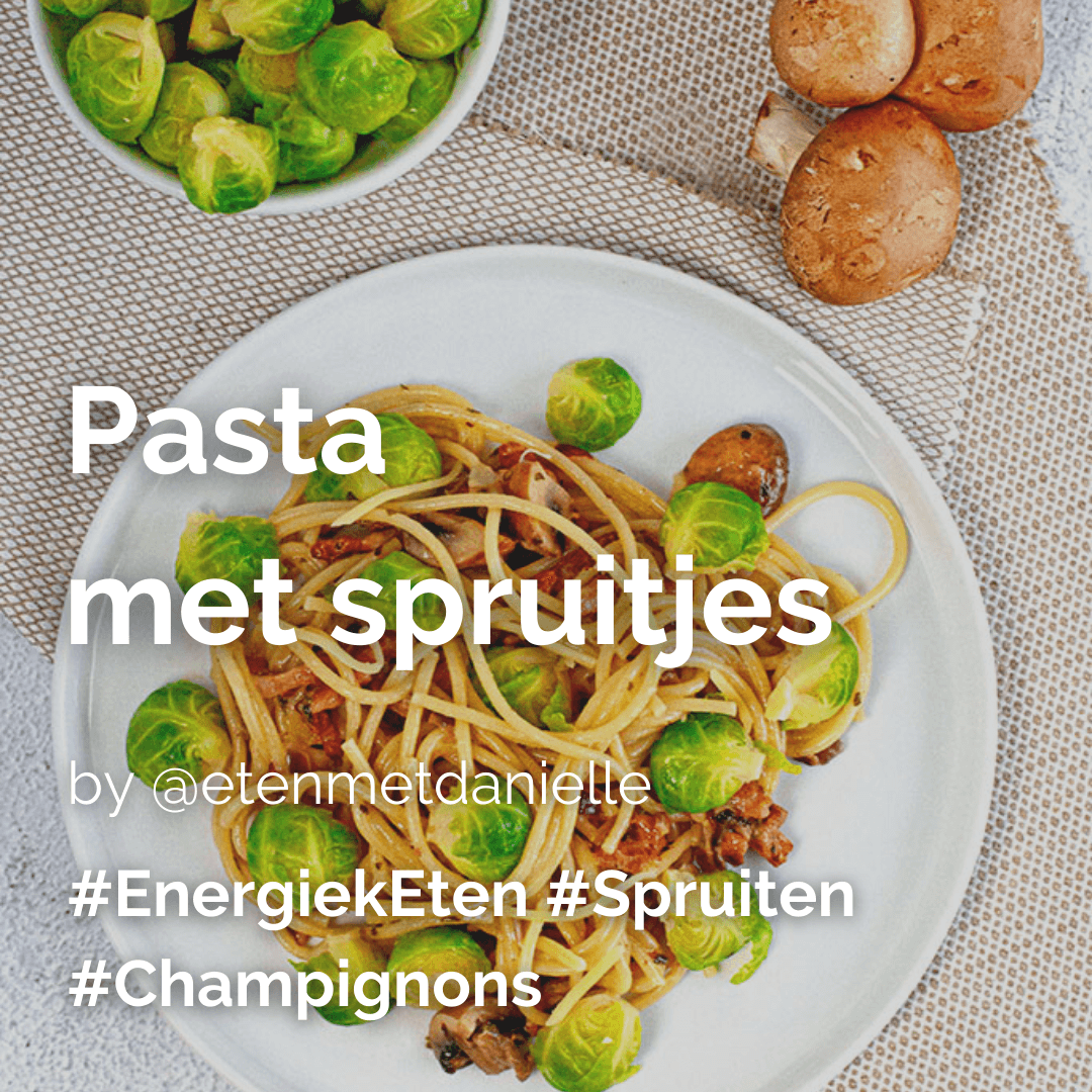 Je bekijkt nu Pasta met spruitjes @etenmetdanielle