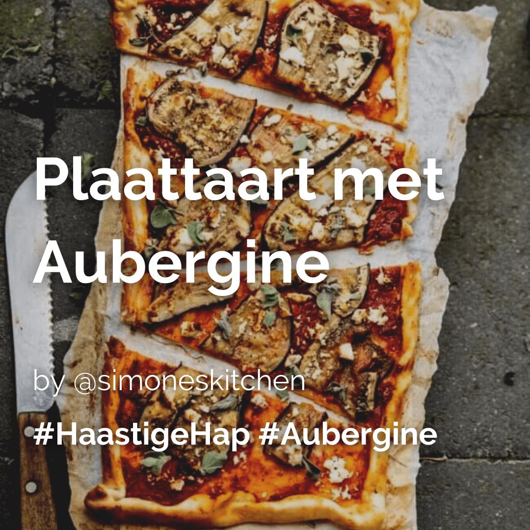 Je bekijkt nu Plaattaart met aubergine @simoneskitchen