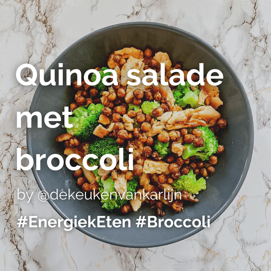 Lees meer over het artikel Quinoa salade met broccoli @dekeukenvankarlijn