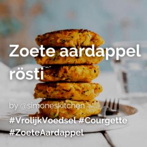 Zoete aardappel rösti @simoneskitchen