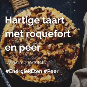 Lees meer over het artikel Hartige taart met roquefort en peer @simoneskitchen