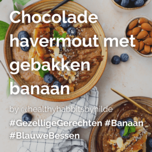 Lees meer over het artikel Chocolade havermout met gebakken banaan @healthyhabbitsbyhilde