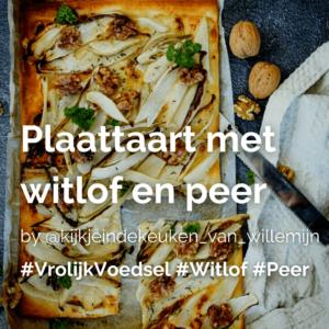 Plaattaart met witlof en peer @kijkjeindekeuken_van_willemijn