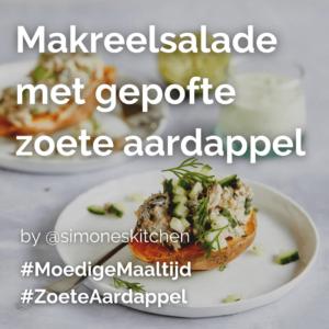 Makreelsalade met gepofte zoete aardappel @simoneskitchen