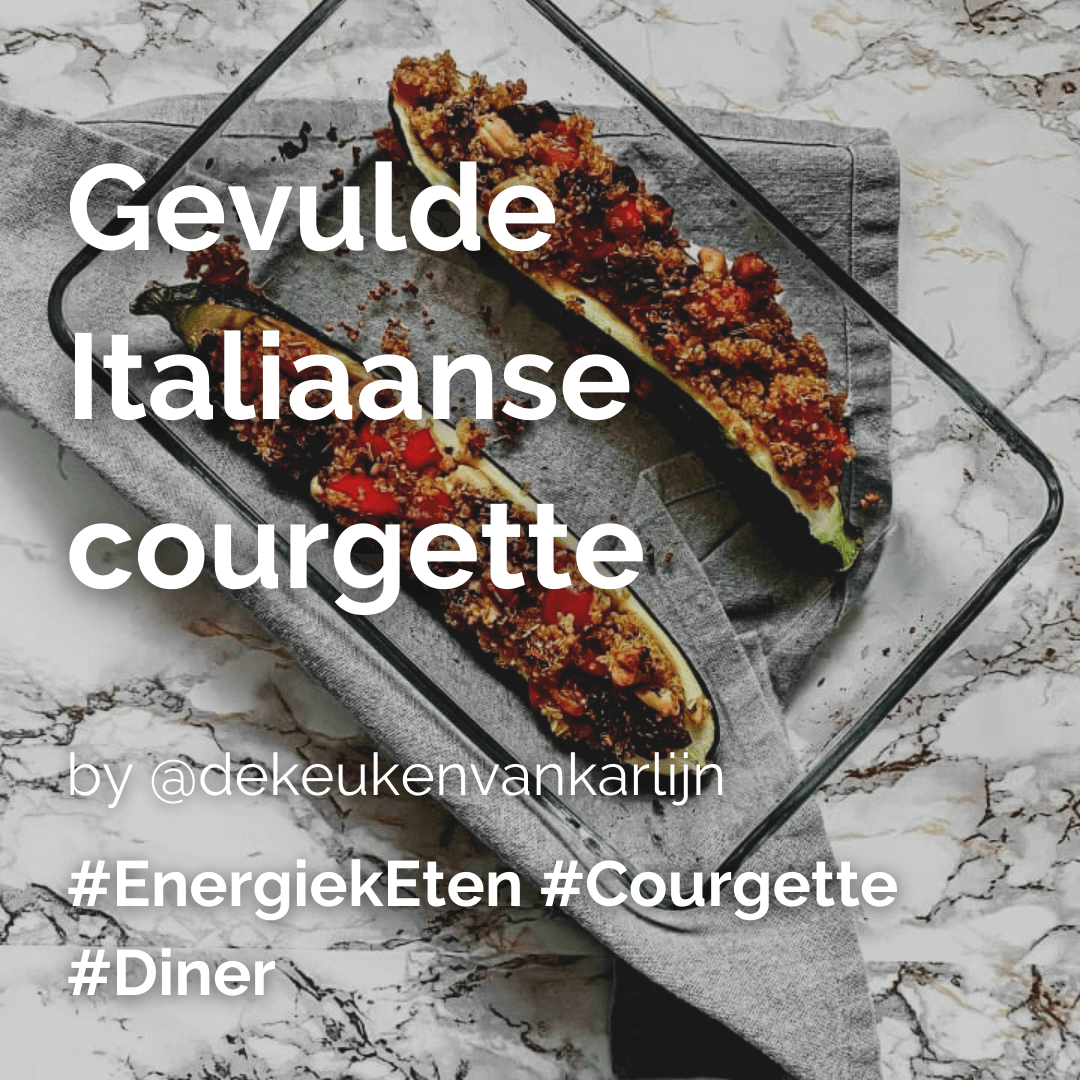 Gevulde Italiaanse courgette @dekeukenvankarlijn