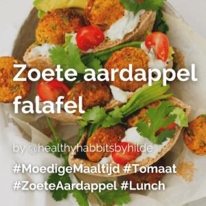 Lees meer over het artikel Zoete aardappel falafel @healthyhabbitsbyhilde
