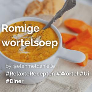 Lees meer over het artikel Romige wortelsoep @etenmetdanielle